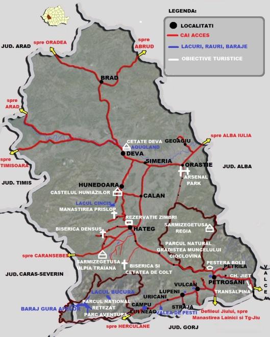 Obiective turistice in judetul Hunedoara | Info vacante