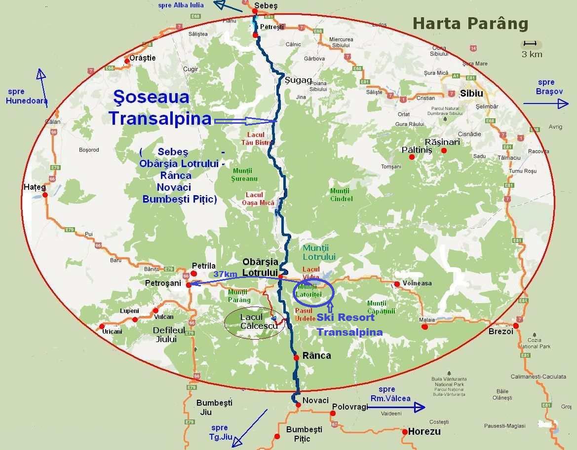 Localizare Acces Transalpina Info Vacante